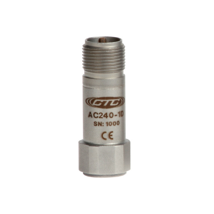 AC240 Series Premium Small Accelerometer, High Frequency, Top Exit Cable, 100 mV/g