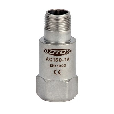 AC150 Series Low Cost Accelerometer, Top Exit Connector/Cable, 100 mV/g