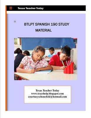 btlpt and lote spanish tips and texes help rh texeshelp blogspot com Examples Study Guide Study Guide Format
