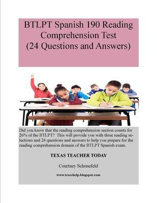 Sample BTLPT Spanish 190 Lesson Plan And Tips