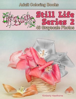Still Life 2 Grayscale Adult Coloring Book Digital Download