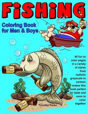 Fishing Coloring Book for Men & Boys Digital Download