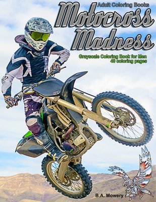 Motocross Madness Coloring Book for Adults Digital Download