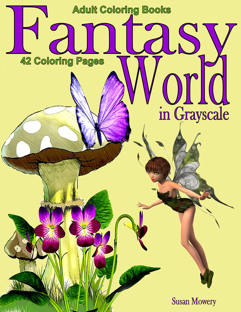 Fantasy World Coloring Book For Adults Digital Download