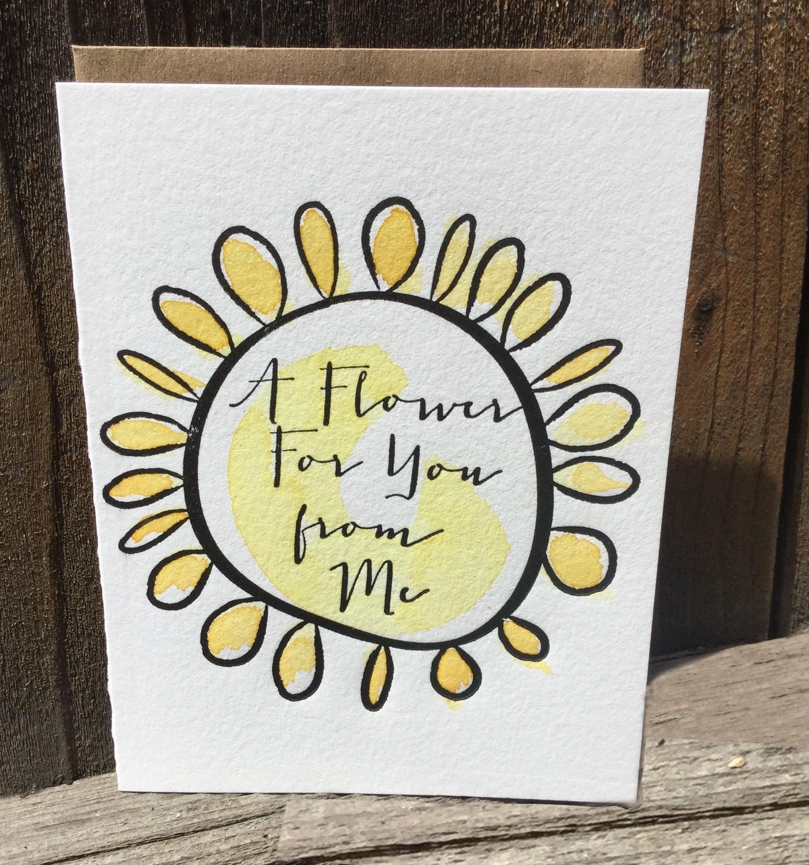 Springtime Notecard + A Stamp too!