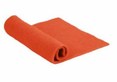 Merino Wool Pre-Felt -- Orange