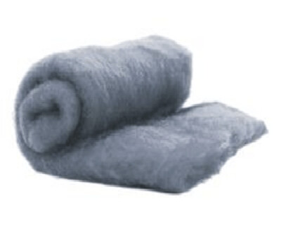 Perendale Wool  -- Carded Batt --  Gray