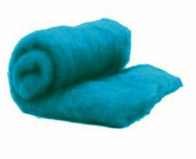 Perendale Wool  -- Carded Batt --  Cerulean