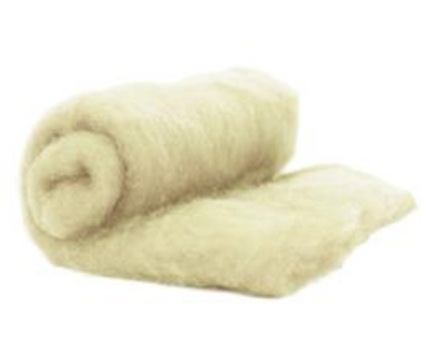 Perendale Wool  -- Carded Batt --  Natural