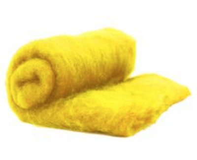 Perendale Wool  -- Carded Batt --  Golden Yellow