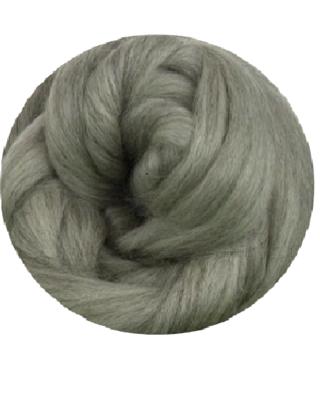 NZ Corriedale Wool Roving -- Silver
