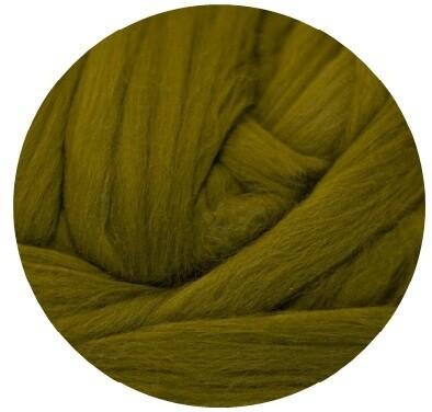 Fine Merino Wool Roving -- Olive