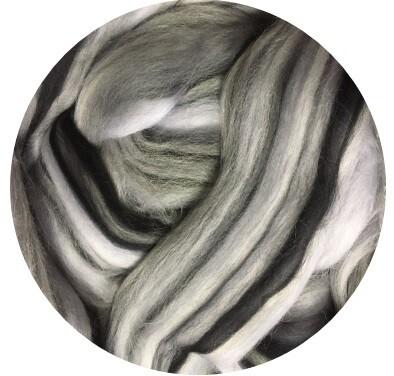 NEW! Fine Merino Wool Roving -- Zippy Zebra
