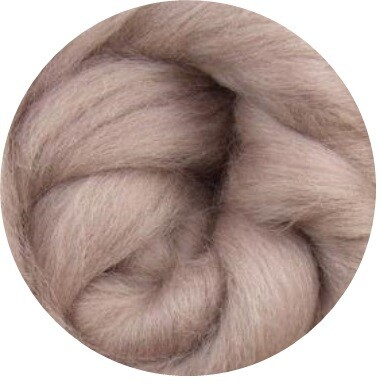 NEW! NZ Corriedale Wool Roving -- Cocoa