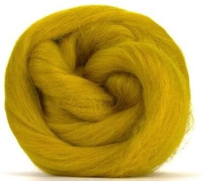 NZ Corriedale Wool Roving --  Gold