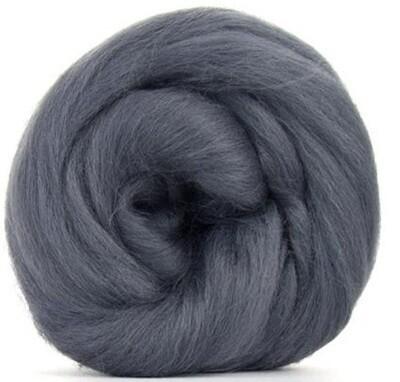 NZ Corriedale Wool Roving -- Granite