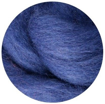 NZ Corriedale Wool Roving --  Blueberry