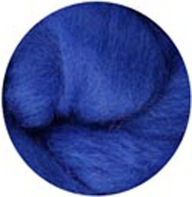 NZ Corriedale Wool Roving -- 16. Blue
