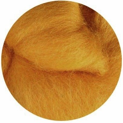 NZ Corriedale Wool Roving --  Butterscotch