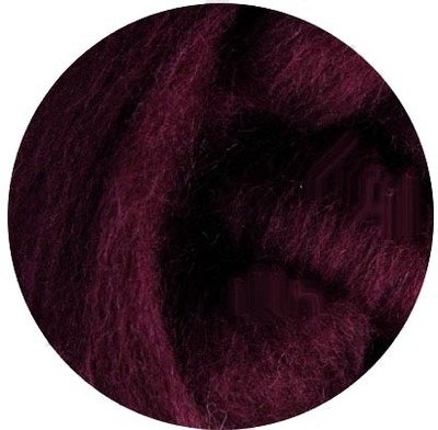 NZ Corriedale Wool Roving -- 14. Eggplant