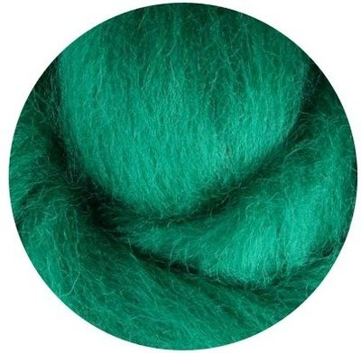 NZ Corriedale Wool Roving -- 24. Green