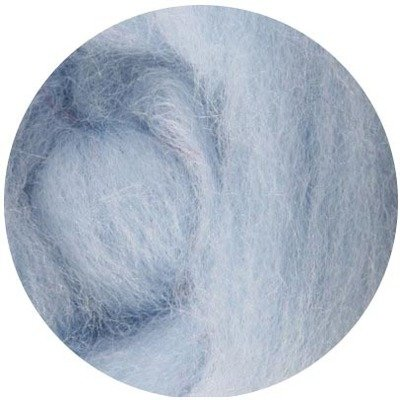 NZ Corriedale Wool Roving --  Ice Blue