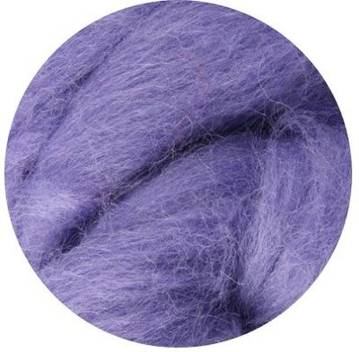 NZ Corriedale Wool Roving -- 9. Lavender