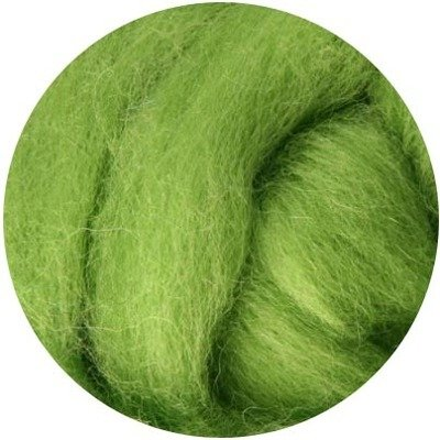 NZ Corriedale Wool Roving -- Lime