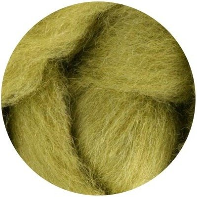 NZ Corriedale Wool Roving -- 28. Lima bean
