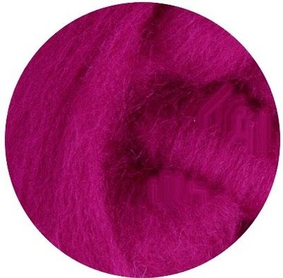 NZ Corriedale Wool Roving --  Magenta