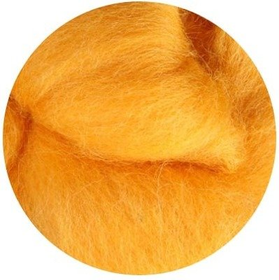 NZ Corriedale Wool Roving -- 31. Marigold