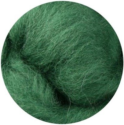 NZ Corriedale Wool Roving -- Moss