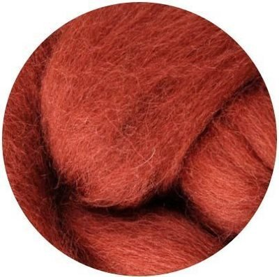 NZ Corriedale Wool Roving -- 4. Nutmeg