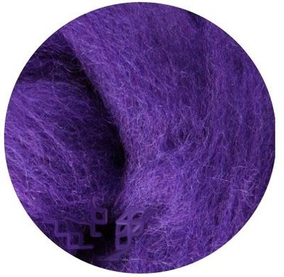 NZ Corriedale Wool Roving -- Purple