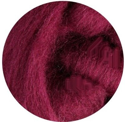 NZ Corriedale Wool Roving -- 13. Raspberry