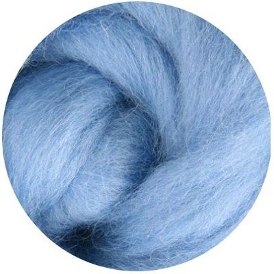NZ Corriedale Wool Roving -- Sky Blue