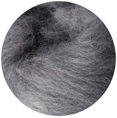 NZ Corriedale Wool Roving -- 2. Smoke