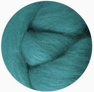 NZ Corriedale Wool Roving -- Teal