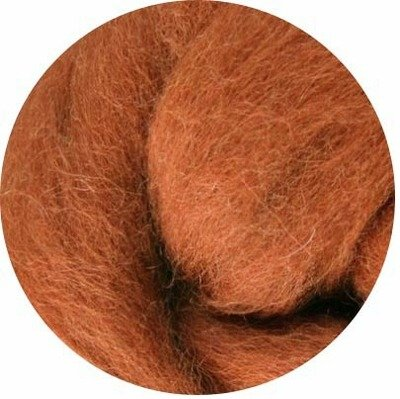 NZ Corriedale Wool Roving -- Toffee