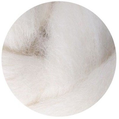 NZ Corriedale Wool Roving -- 7. Offwhite