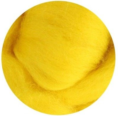 NZ Corriedale Wool Roving -- 32. Yellow