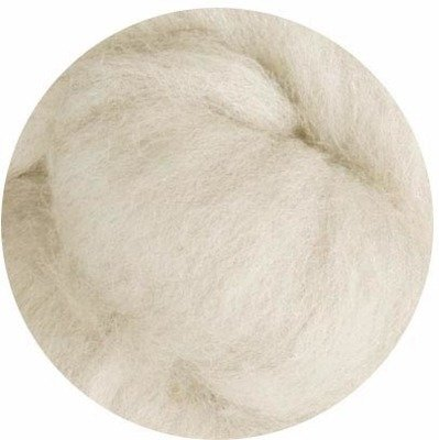 Undyed Corriedale Wool Roving -- Natural Ecru