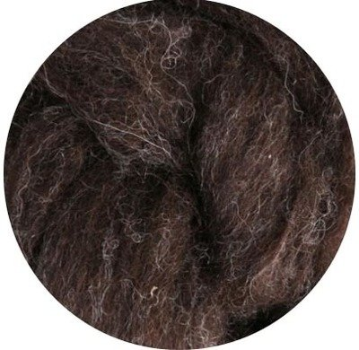 Undyed NZ Corriedale Wool Roving -- Dark Sheeps Brown