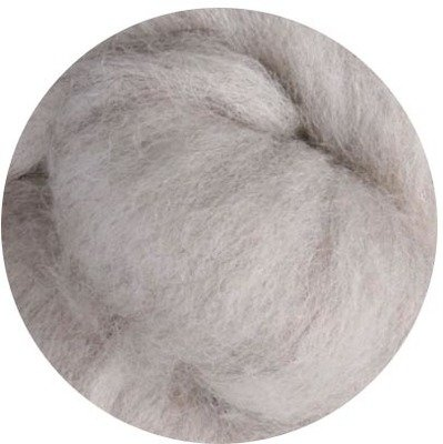 Undyed NZ Corriedale Wool Roving -- Light Sheeps Gray