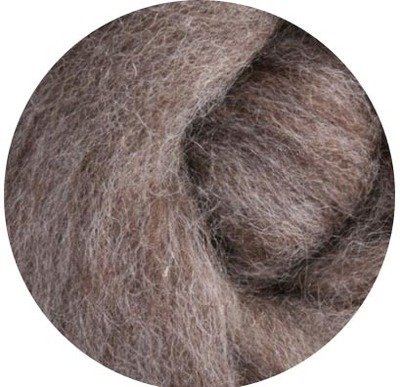 Undyed NZ Corriedale Wool Roving -- Medium Sheep's Brown