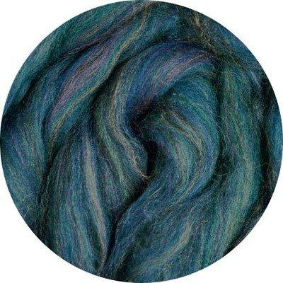 Merino Blended Color Wool Roving -- Marine