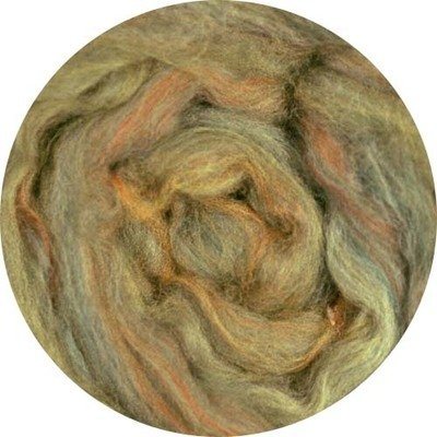 Merino Blended Color Wool Roving -- Sage