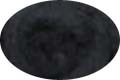 HomeSpun Carded Wool Roving -- Black