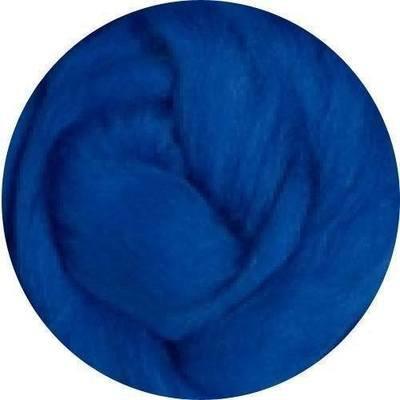 Fine Merino Wool Roving -- Blue