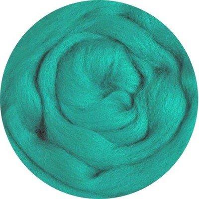 Fine Merino Wool Roving -- Jade